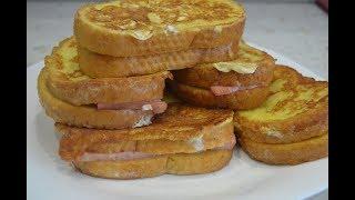 Быстрый завтрак - бутерброды на скорую руку./Quick breakfast.