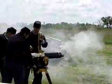 Firing 1874 Gatling Gun - YouTube