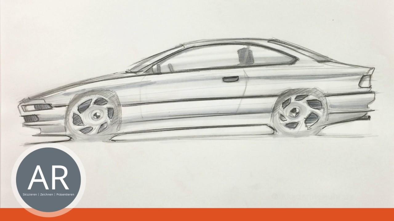 Transportation-Design Skizzen. Autos zeichnen. Marker-Skizzen ...