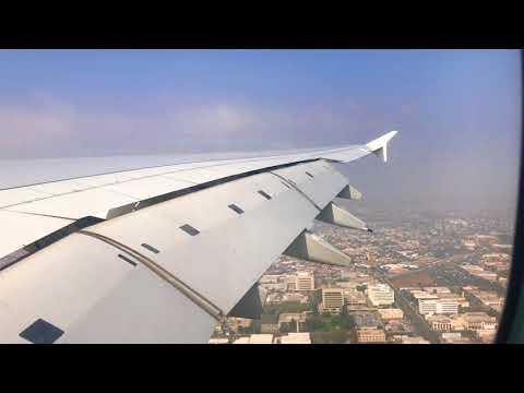 Emirates A380 Landing to LAX with Beautiful U turn