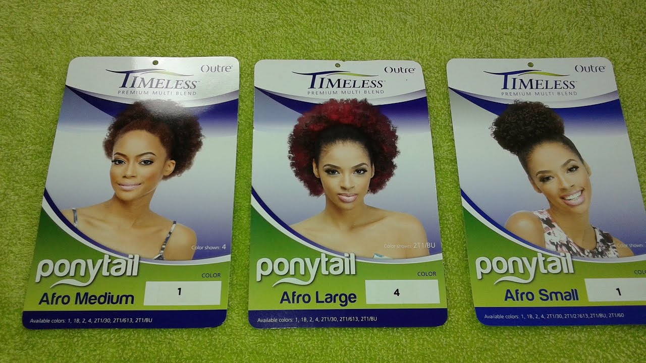 My Three Hair Outre Timeless Afro Ponytail Bold Soul Sister Style You