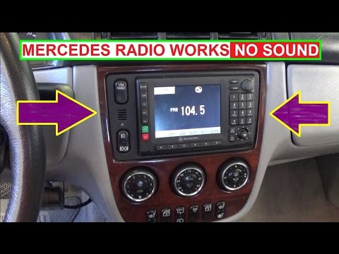Mercedes Radio NO SOUND NO CD PLAYER INSTALLED  Radio Works but NO
