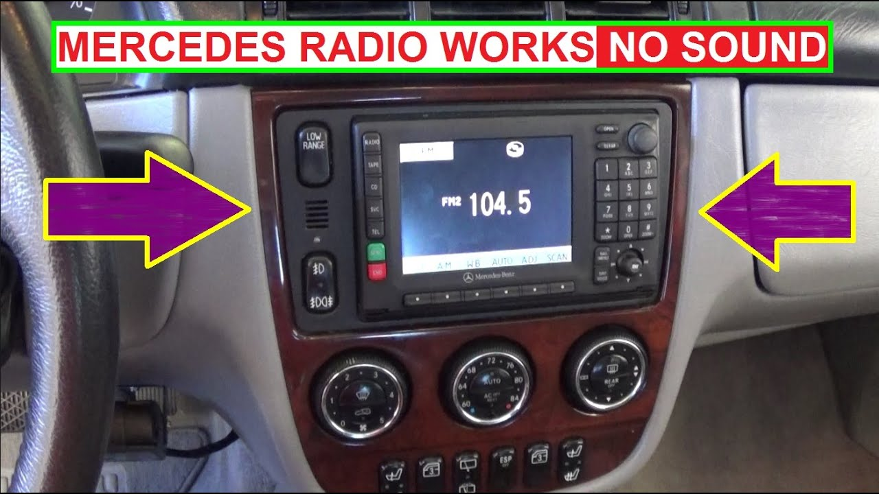 mercedes radio no sound no cd player installed radio works but no audio [ 1280 x 720 Pixel ]