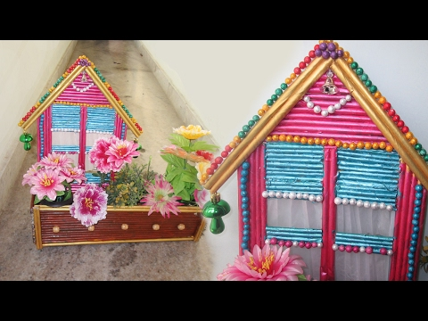 How To Make a Easy Paper House ||Newspaper Craftt Ideas || Best from Waste || Flowervase