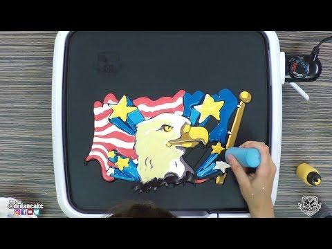 American Eagle Pancake Art 🦅