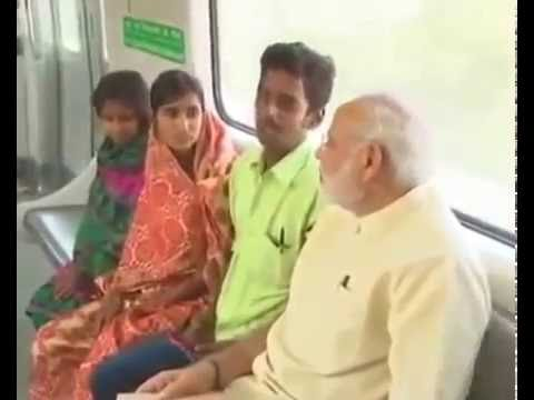 PM Narendra Modi ji Visit & Travell  Delhi Metro Surprised .
