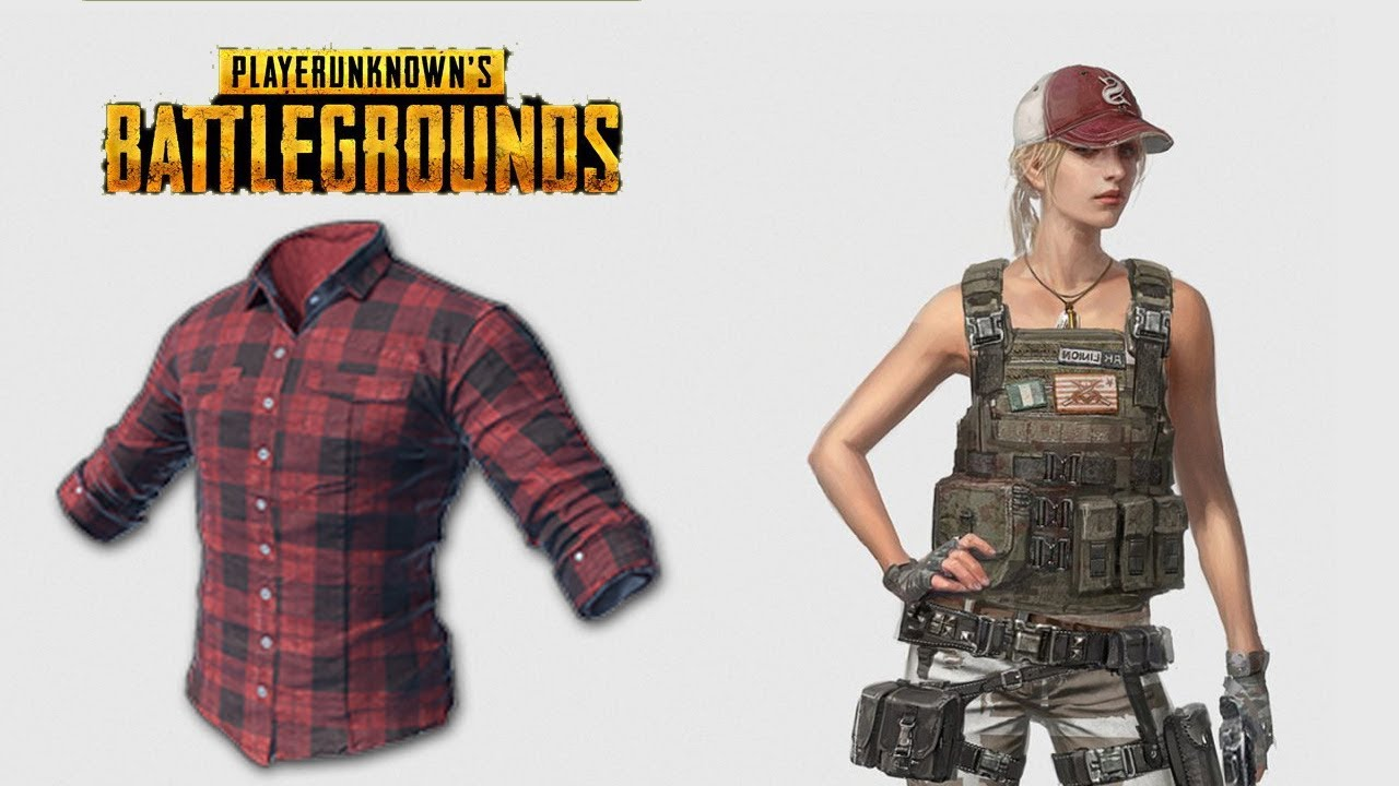 Checked Shirt Red Playerunknown S Battlegrounds Skins