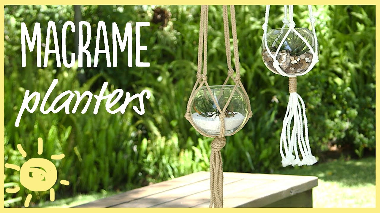 Diy 5 minute macrame planters youtube solutioingenieria Image collections