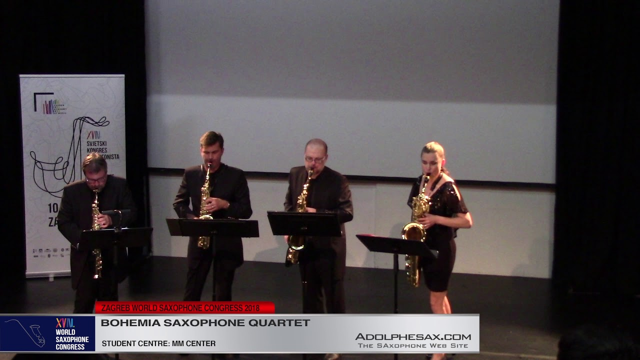 Miniatures I, II, III by Michael Nyman    Bohemia Saxophone Quartet   XVIII World Sax Congress 2018