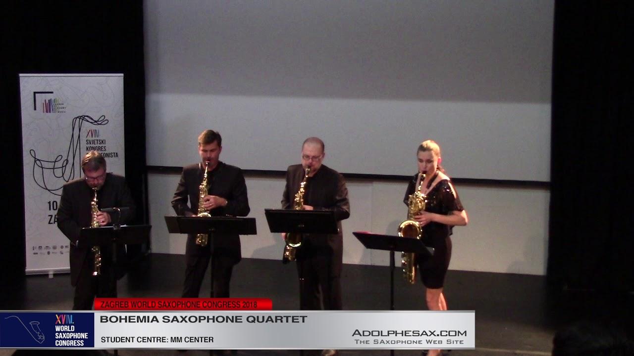 Miniatures I, II, III by Michael Nyman    Bohemia Saxophone Quartet   XVIII World Sax Congress 2018