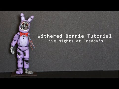 Five nights at freddy s 2 withered bonnie polymer clay tutorial