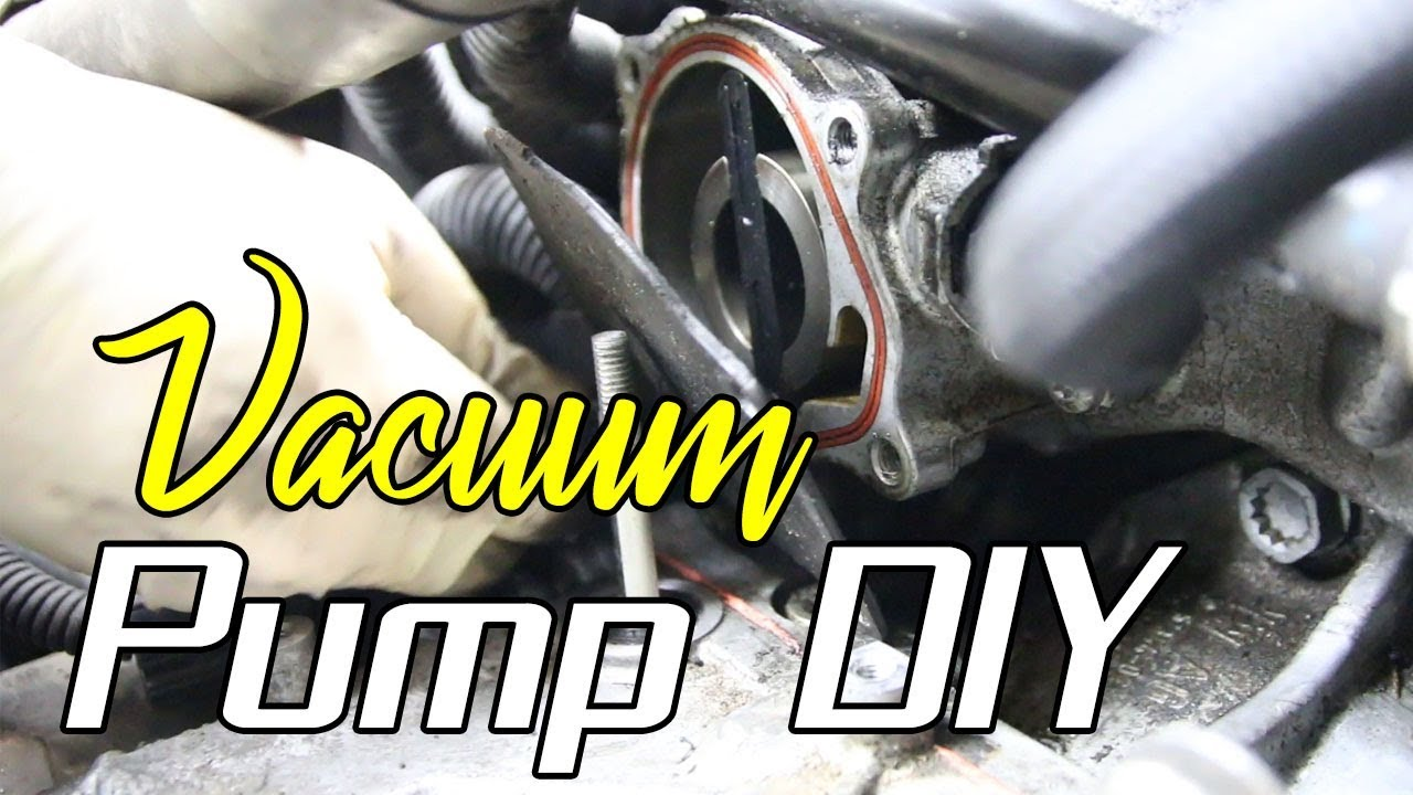 how to install a vacuum pump on a vw 2 5l 5cyl find parts here too  [ 1280 x 720 Pixel ]