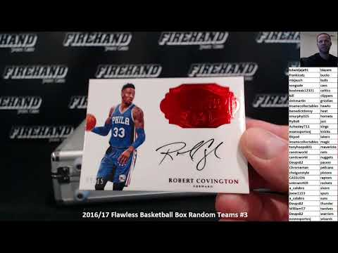 2016/17 Flawless Basketball Box Random Teams #3 ~ 11/17/17