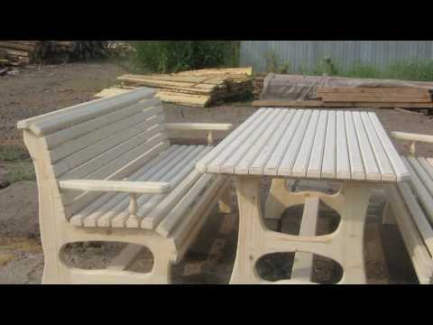 Мебель садовая из сосны