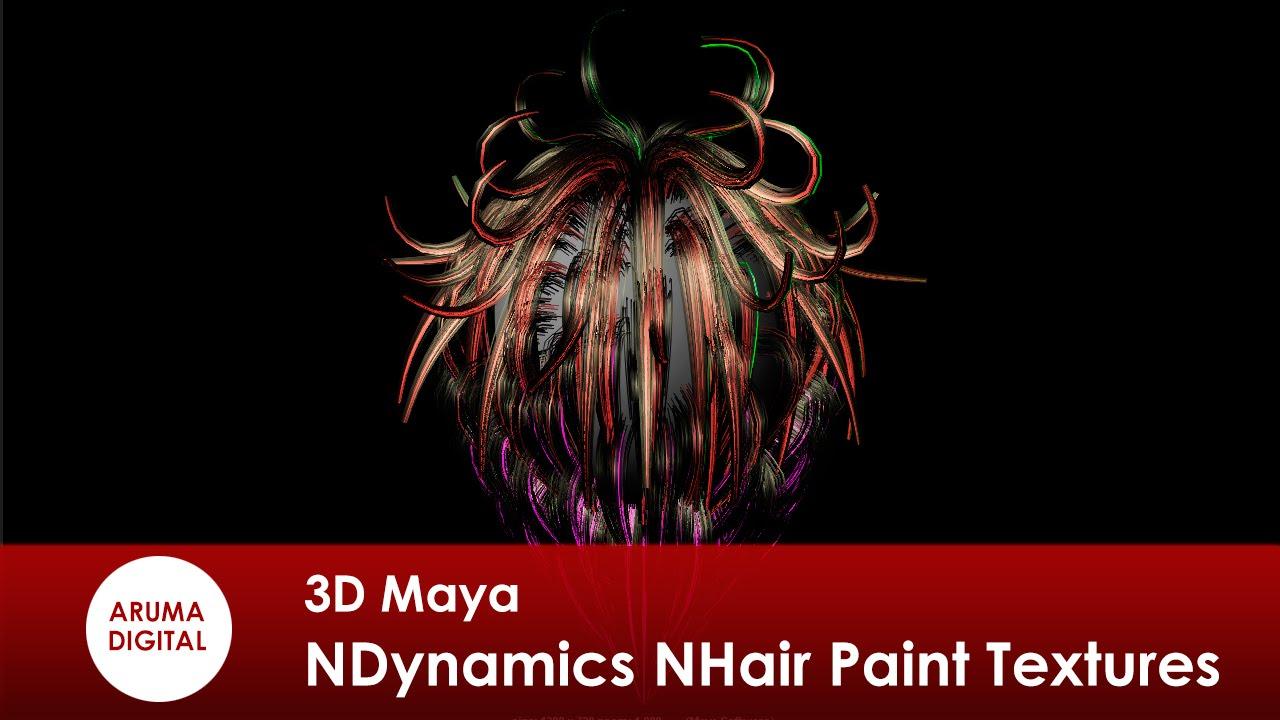 3d maya 183 dinamicas ndynamics nhair paint hair textures youtube