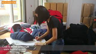 Padded jacket inspection from portugal order