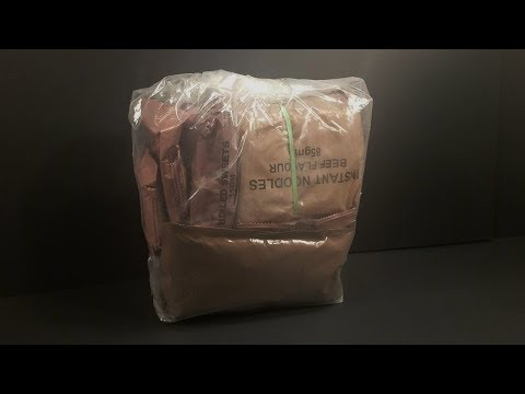 2011 New Zealand 24 Hour Operational Ration Pack MRE Review