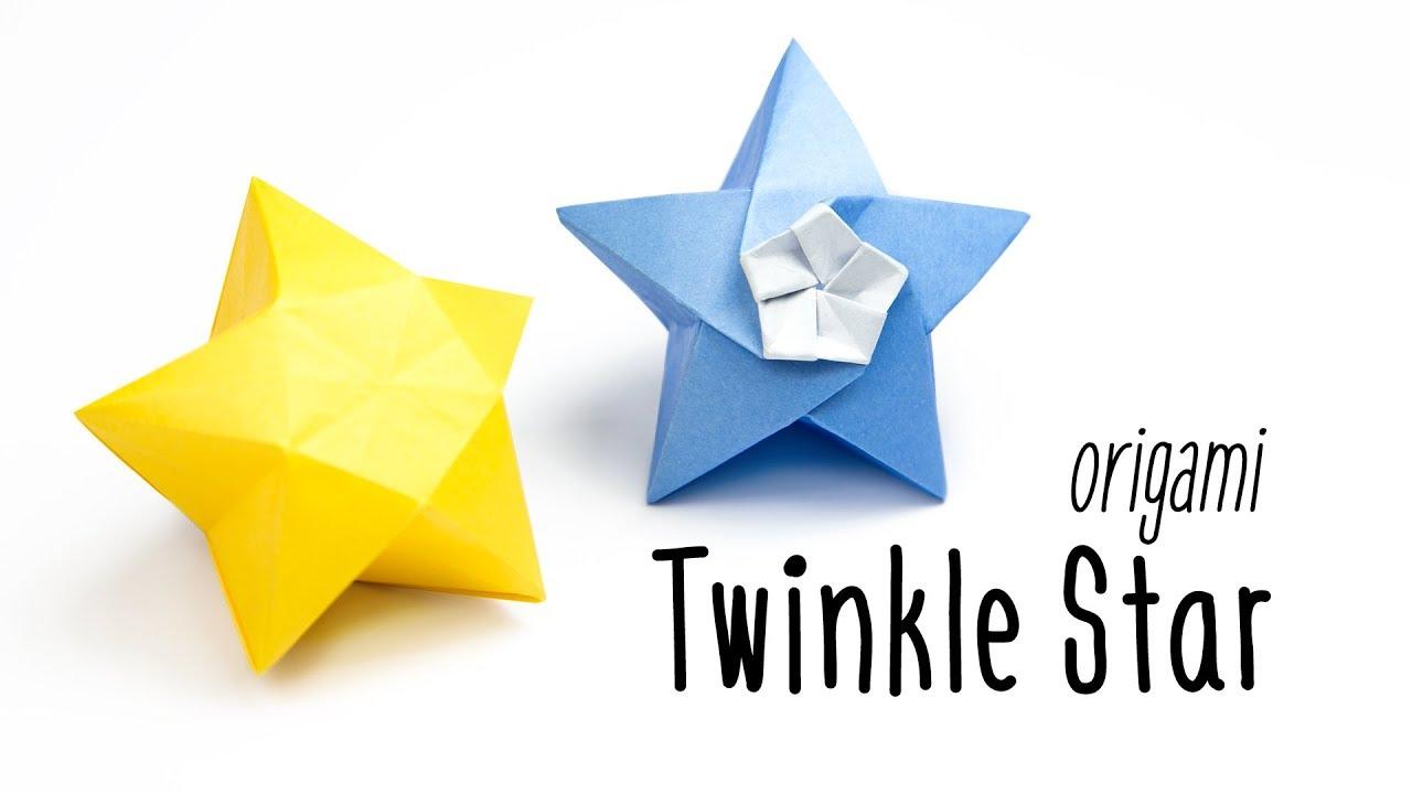 Origami Twinkle Star Tutorial Inflatable Paper Kawaii
