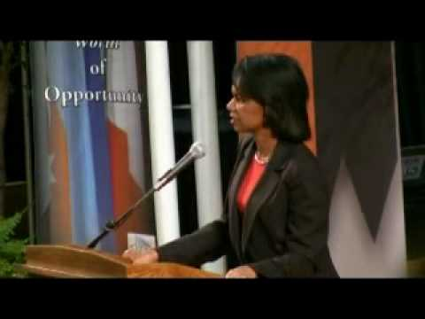 66th United States Secretary of State Dr. Condoleezza Rice