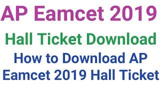 Hall Ticket Download : AP Eamcet 2019 Hall Ticket Download