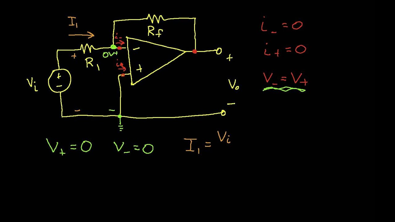Op Amp Circuit Analysis Inverting Amplifier Youtube Solve Elec Electrical Circuits And Resolution