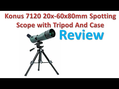 Konus 7120 20x-60x80mm Spotting Scope with Tripod And Case Review | Best Spotting Scopes.