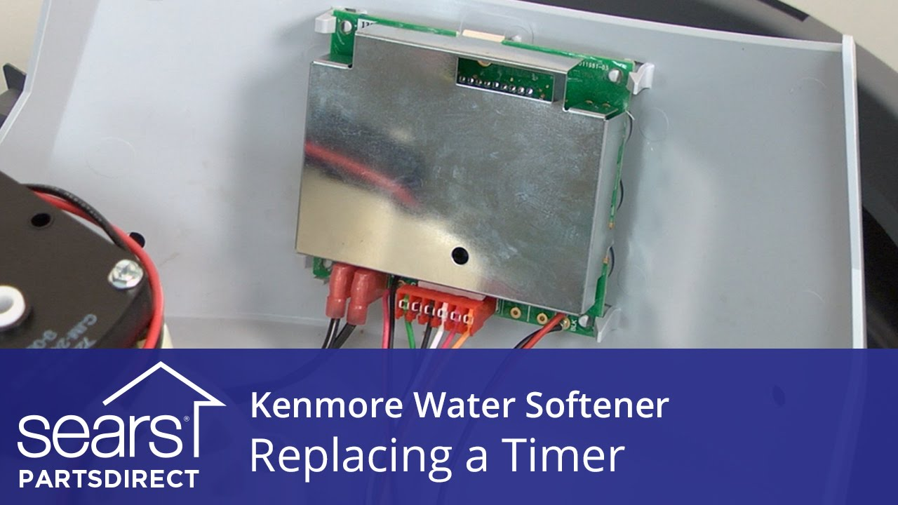 How To Repair A Water Softener How To Replace A Kenmore Water Softener Timer Youtube