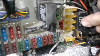 Блокировка стартира при работающем двигателе