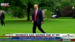 WATCH: President Trump Arrives Back To The White House With Huge Fanfare (FNN)