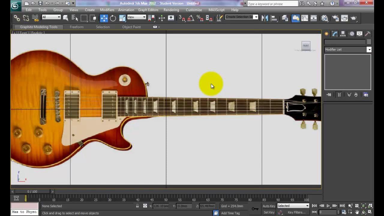 3dsmax - Guitar Modeling - Setup Reference File - 01