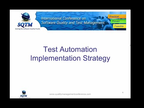 Software Testing Training | Test Automation Implementation Strategies