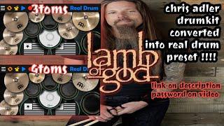 What If Chris Adler's Drum Kit Converted Into Real Drum App?? (link on description)