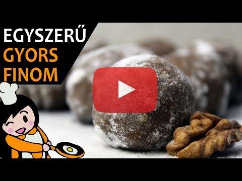 Villámgyors hógolyó (sütés nélkül) - Recept Videók