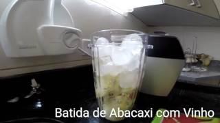 nutri ninja preparando uma batida espanhola torta de palmito euterpe