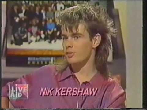 lanzador Recuerdo Víspera  Noel EDMONDS pre Live Aid interview Nik KERSHAW - YouTube
