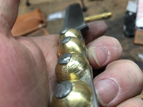 File Knife 3 ~ Brass Ball Handle