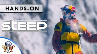Steep Gameplay - The Best Tricks, Stunts & Gold Medal Runs - 8 Minutes Hands-On (E3 2016 )(Awesome expert Gameplay of Steep, best on YouTube, featuring gold medal runs and awesome tricks and stunts. Ride a massive open world of the Alps and ..., 2016-06-14T23:00:30.000Z)