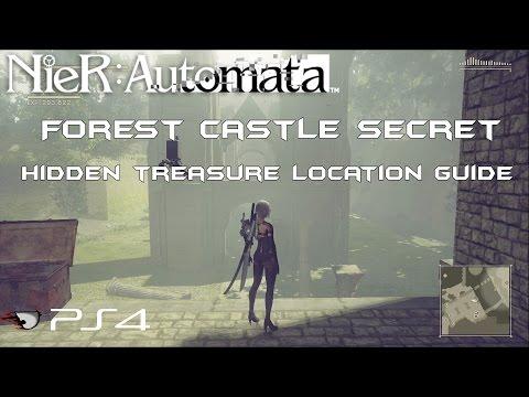 NieR: Automata Forest Castle Secret, Hidden Treasure Subquest Location Walkthough (PS4)