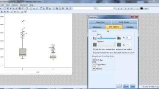 Editing boxplots using SPSS