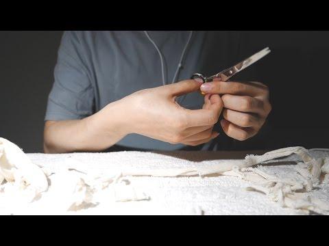 😴 ASMR  싹둑싹둑 천 자르는 소리 + 잡담 ✔ / Cutting fabric with scissors /