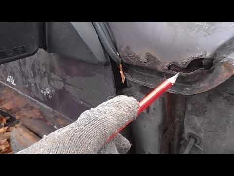 Замена угла рамки лобового стекла ВАЗ 2108