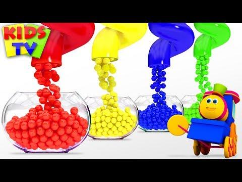 Learn Colors For Kids   Bob Fun Series   Preschool Learning Videos - Kids TV