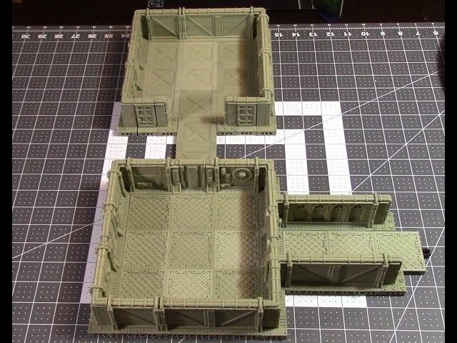 3d Printed:  Corvus Games Terrain Modular Sci-fi Corridor Set