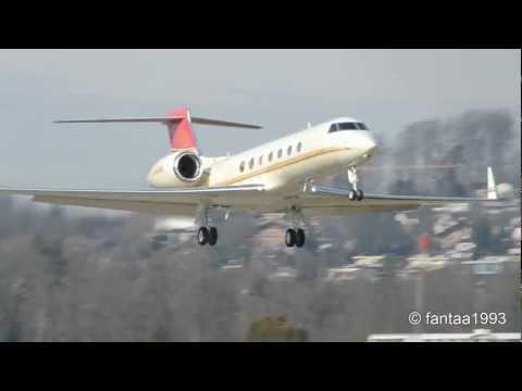 Gulfstream G550 M-MOMO takes off in Berne HD