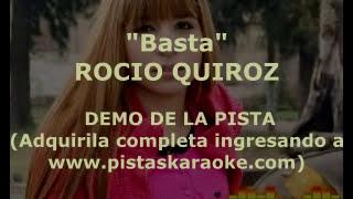 """Rocio Quiroz """"Basta"""" DEMO PISTA KARAOKE"""