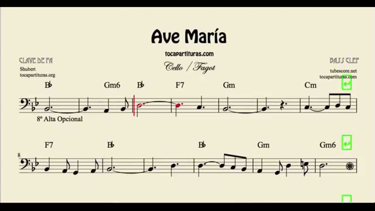 Ave mara sheet music for cello and bassoon with chords youtube ave mara sheet music for cello and bassoon with chords hexwebz Gallery
