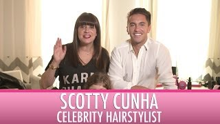 Celebrity Hairstylist, SCOTTY CUNHA, gives tips on cutting your kids hair! | Jamie Greenberg Makeup Thumbnail