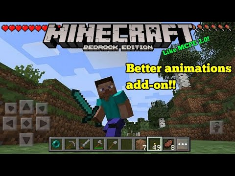 Minecraft PE 1.13 | BETTER ANIMATIONS IN MCPE!! + DOWNLOAD LINK & GAMEPLAY!! (Pocket Edition)