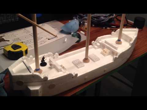 Polystyrene Foam Ship Build
