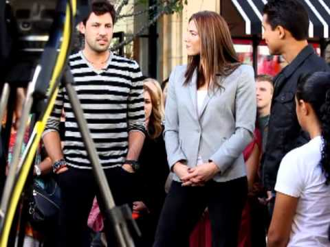 Maksim Chmerkovskiy  and Hope Solo Interview with Mario Lopez of Extra